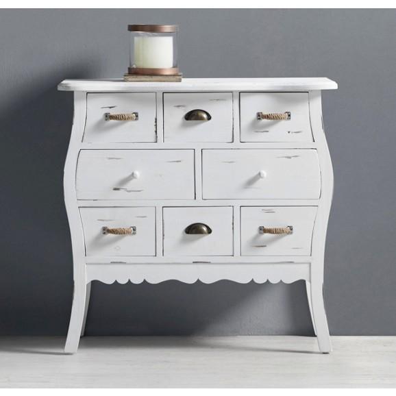 Kommode lewis aus echtholz in wei online kaufen m max for Wohnzimmermobel echtholz modern
