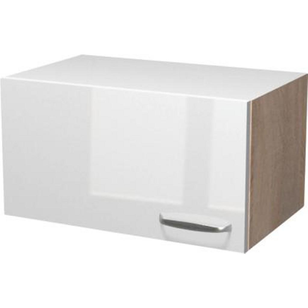 Küchenoberschrank in Weiß/Eiche