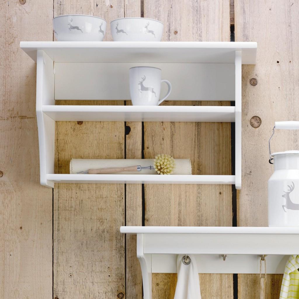 Küchenregal Claudia aus Fichte in Weiß