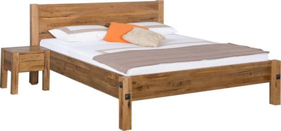 Bett in Eiche, ca. 180x200cm - Betten - Betten - Schlafzimmer ...