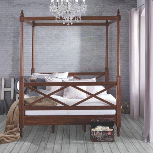 Himmelbett Victoria Aus Akazienholz ca. 180x200cm - Betten ...