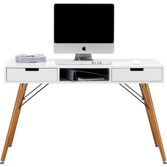 schreibtisch in wei braun pinienholz online kaufen m max. Black Bedroom Furniture Sets. Home Design Ideas