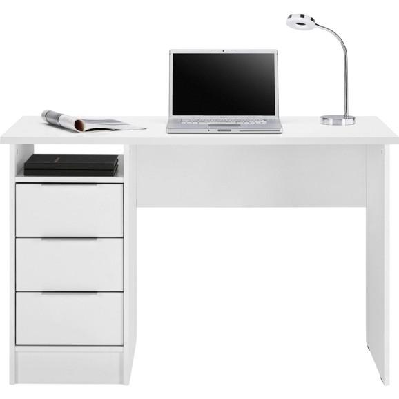 schreibtisch in wei matt laminiert online kaufen m max. Black Bedroom Furniture Sets. Home Design Ideas