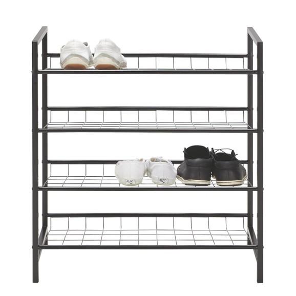 schuhregal in schwarz online kaufen m max. Black Bedroom Furniture Sets. Home Design Ideas