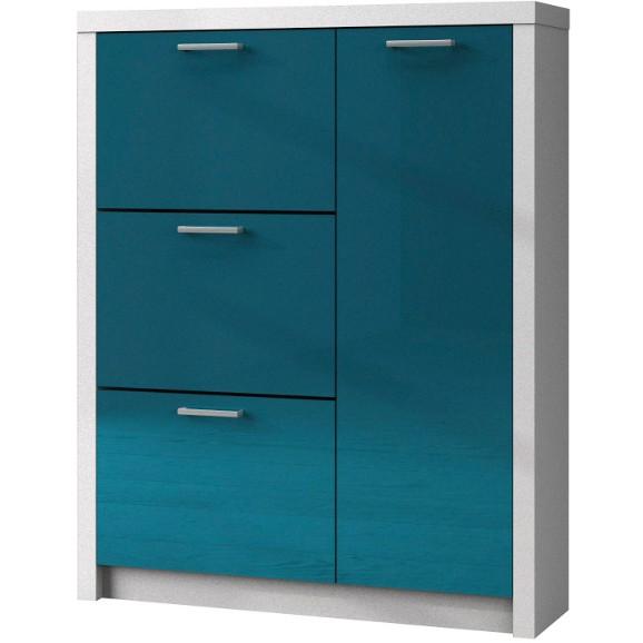 schuhschrank in blau wei online kaufen m max. Black Bedroom Furniture Sets. Home Design Ideas