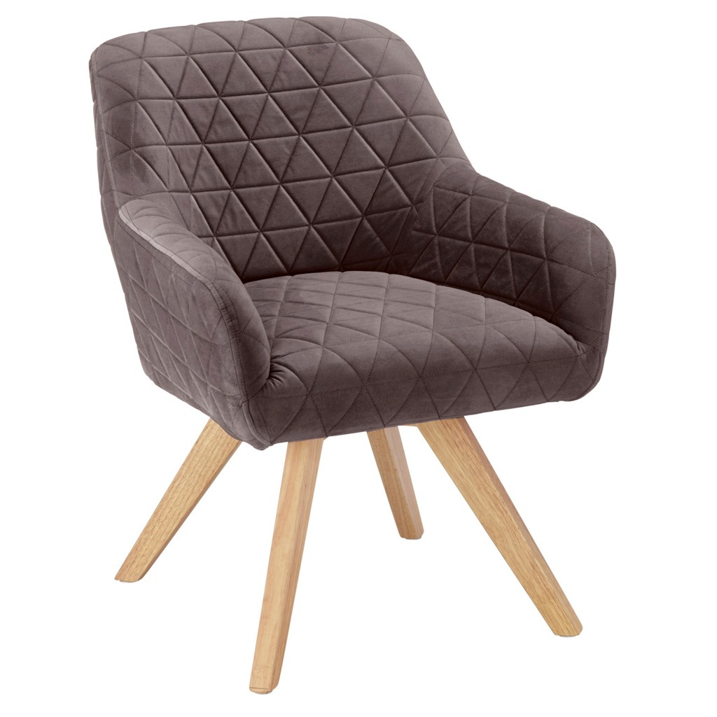 Sessel in Grau aus Kautschukholz