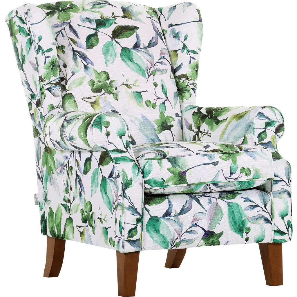 Sessel in Grün/Weiß