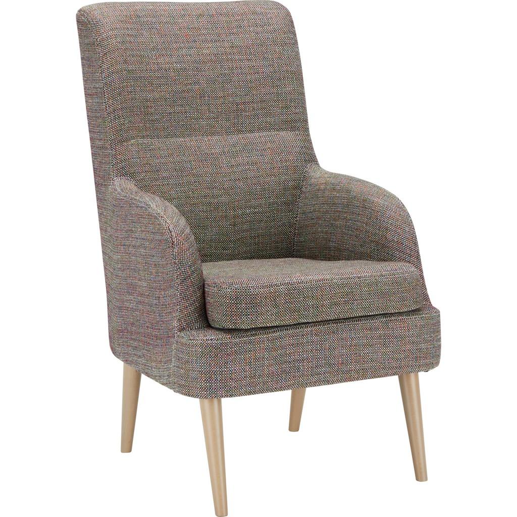 Sessel in Rot/Braun