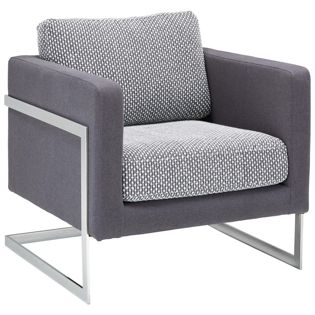 Sessel in Schwarz/Weiß/dunkelgrau