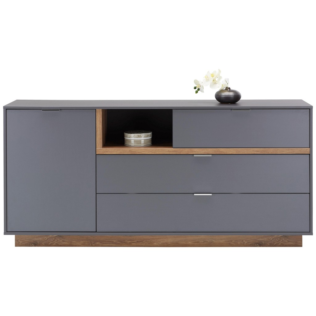 Sideboard in Graphit/Eichefarben