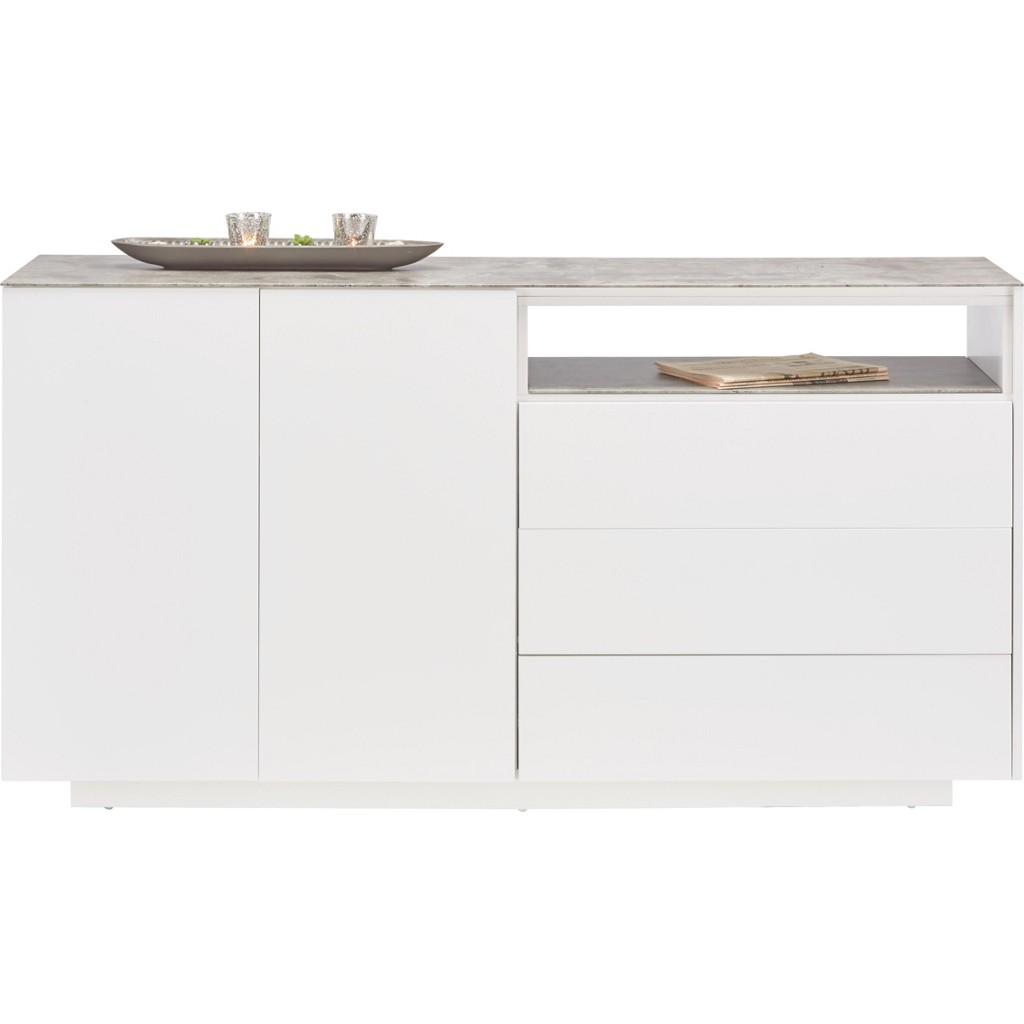 Sideboard in Grau/Weiß