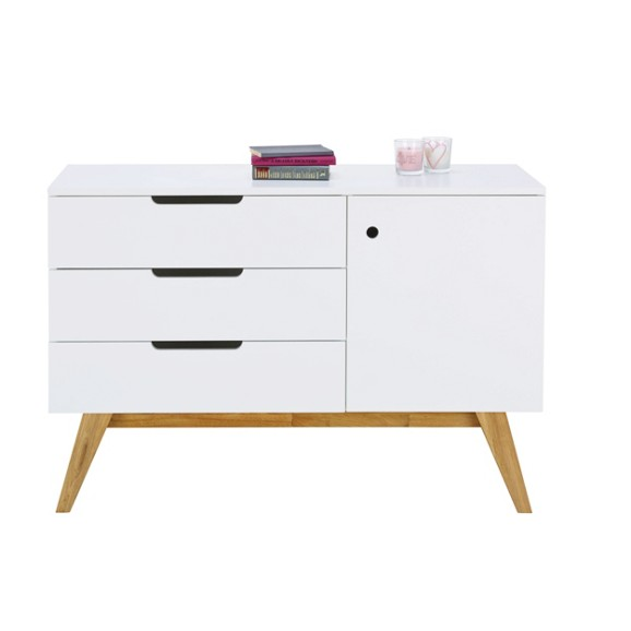 Sideboard in natur wei online kaufen m max for Sideboard holz modern