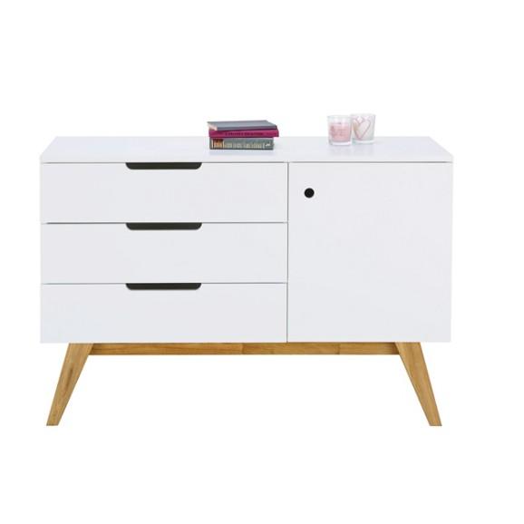 sideboard in natur wei online kaufen m max. Black Bedroom Furniture Sets. Home Design Ideas