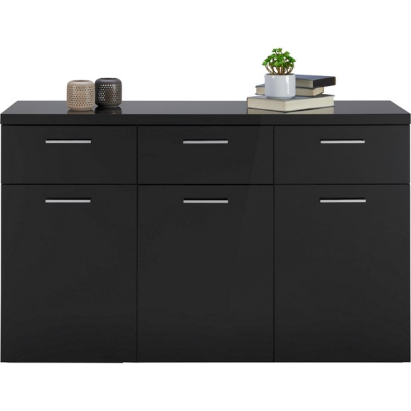 sideboard in schwarz hochglanz online kaufen m max. Black Bedroom Furniture Sets. Home Design Ideas