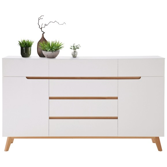 sideboard in wei aus echtholz online kaufen m max. Black Bedroom Furniture Sets. Home Design Ideas