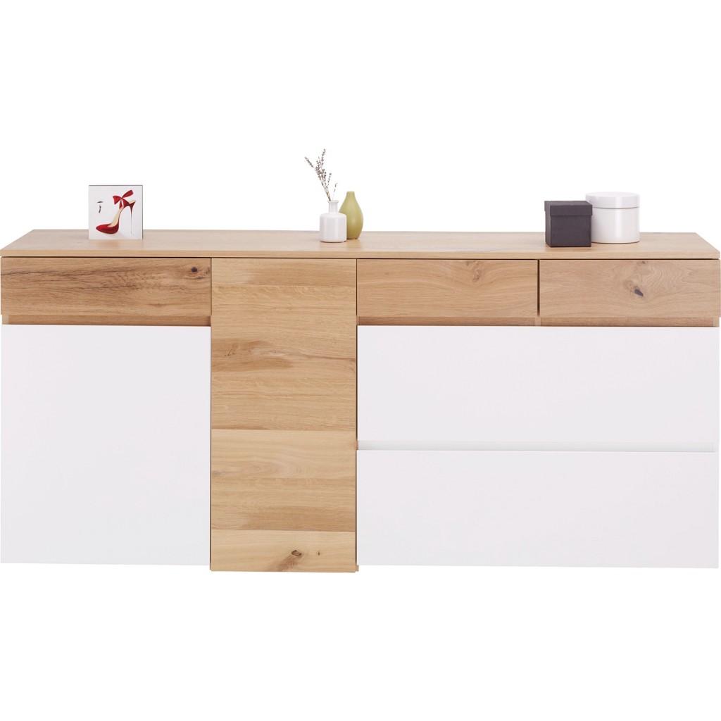 Sideboard in Weiß/Eiche