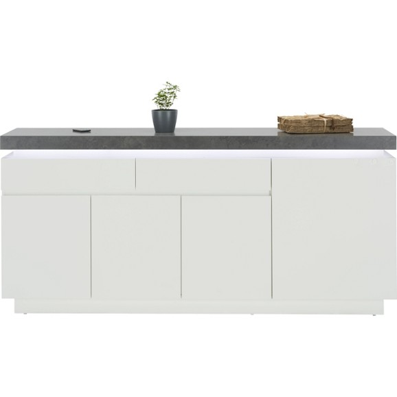 sideboard in wei matt lackiert online kaufen m max. Black Bedroom Furniture Sets. Home Design Ideas