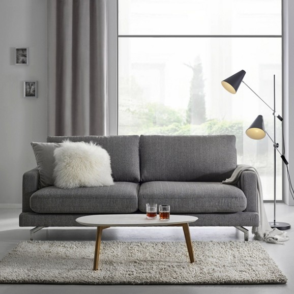 sofa in grau boss online kaufen m max. Black Bedroom Furniture Sets. Home Design Ideas