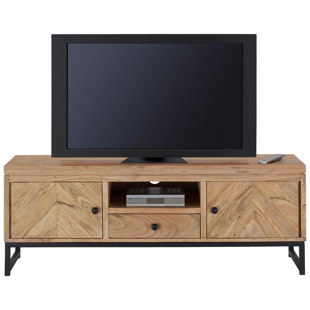 TV-Element in Schwarz/akaziefarben