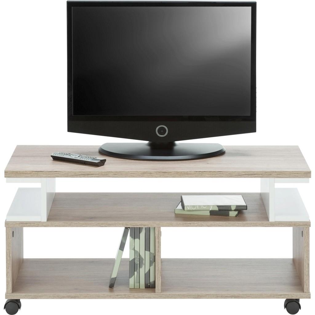 TV-Element in Weiß/Braun