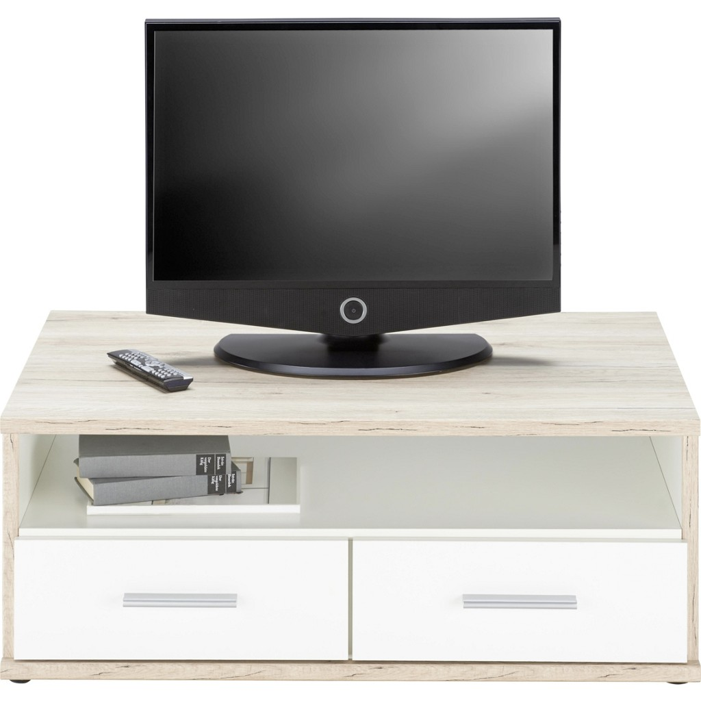 TV-Element in Weiß/Eiche aus Holz