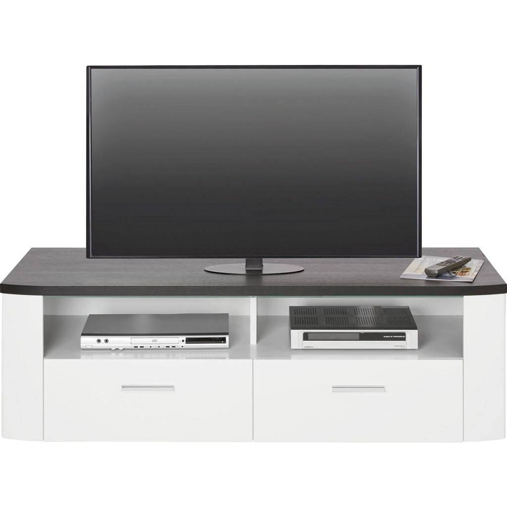 TV-Element in Weiß/Schwarz