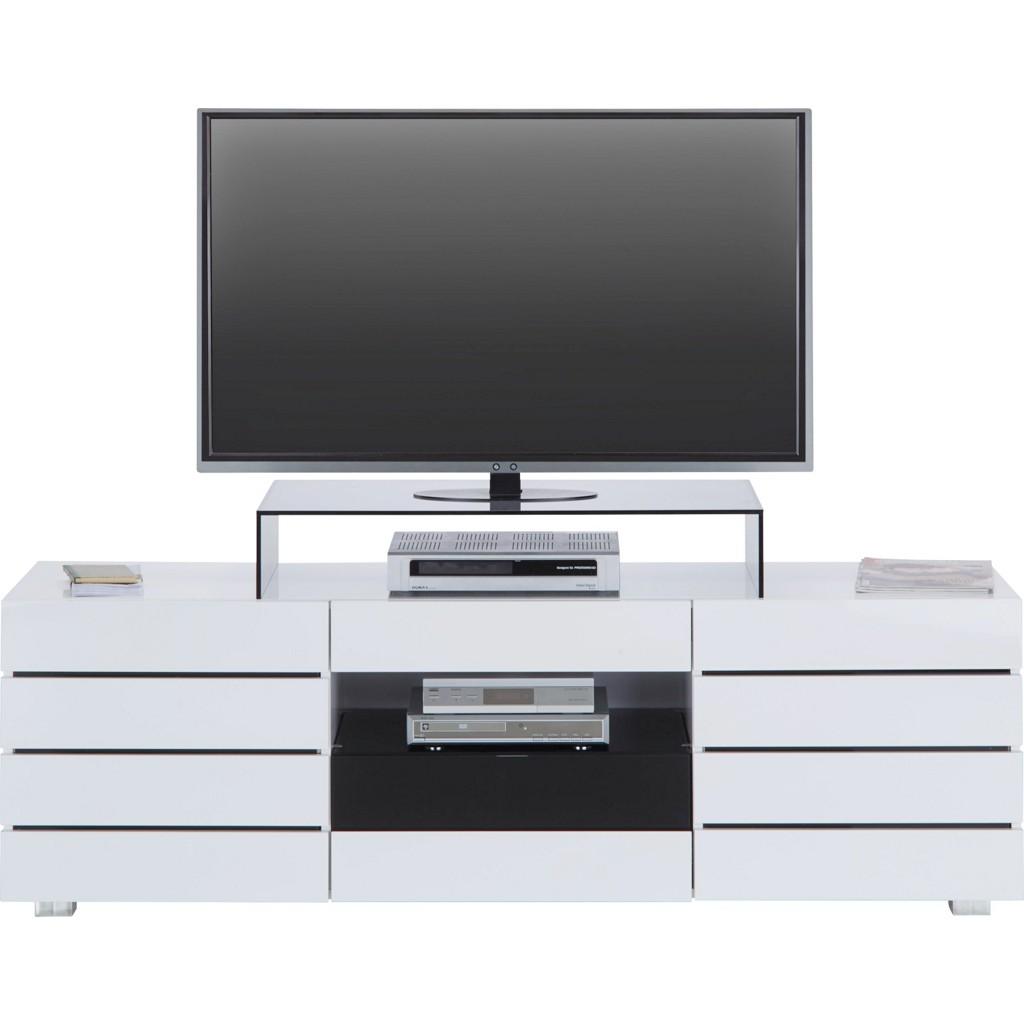 TV-Element in Weiß/Schwarz, Mdf